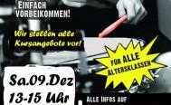 Samstag, 09. Dezember Schnupper-Nachmittag im jamclub-drumcenter